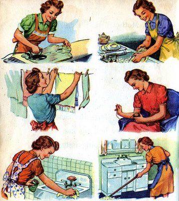 Amas de casa en las publicidades | Acuarela de palabras