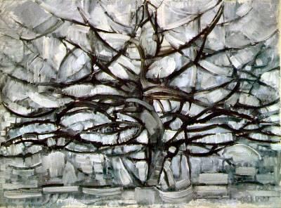 Mondrian - Arbol Gris