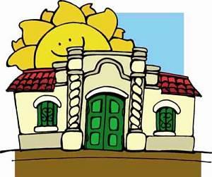 Casa tucumana de la independencia argentina / dibujo
