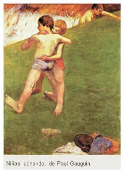 Ninios-luchando-gauguin