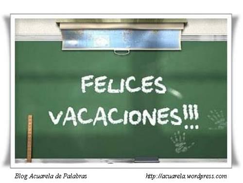 Un saludo en tarjeta: Felices vacaciones!