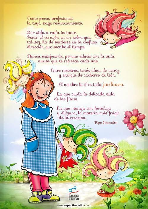 Canci n y palabras dedicadas a la maestra jardinera for Cancion para saludar al jardin de infantes