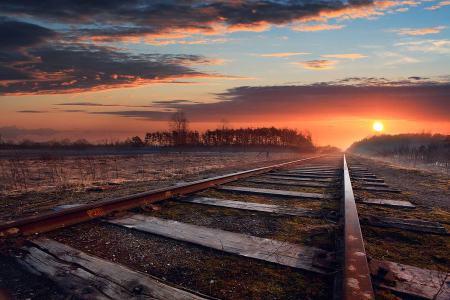 vía sin tren