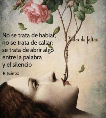 Tarjeta Con Frase Entre La Palabra Y El Silencio Acuarela