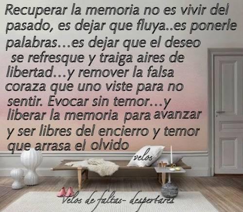 Tarjeta Con Frase Recuperar La Memoria Acuarela De Palabras