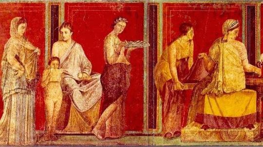 ROMA frescos conservados en las villas de Pompeya